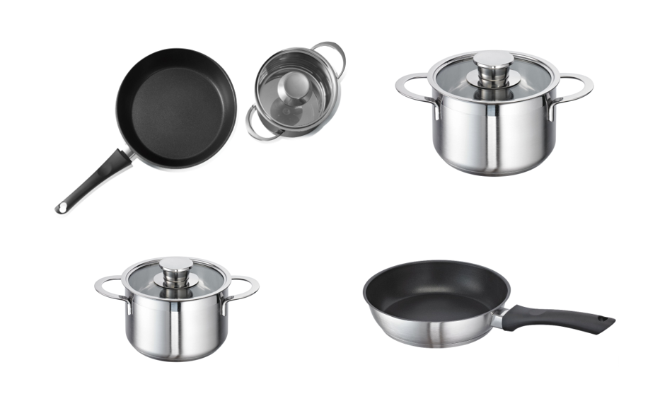 Saucepan Set, Suitable for Induction Hobs